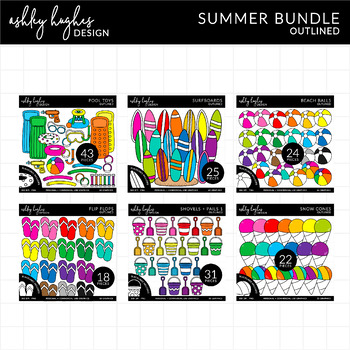Summer Clipart Bundle {A Hughes Design}