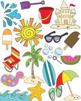 Summer Clipart Set {KT Creates Original}