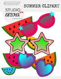 Summer Clip Art! Water melon & Sunglasses