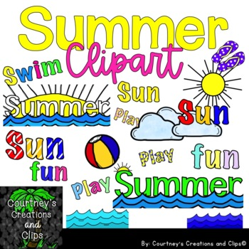 Summer Clipart for Personal and Commercial Use