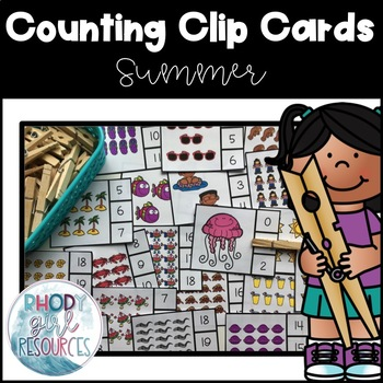Summer Clip or Cover Counting Cards