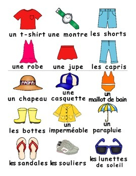 Summer Clothes / Vêtements d'été FRENCH Games