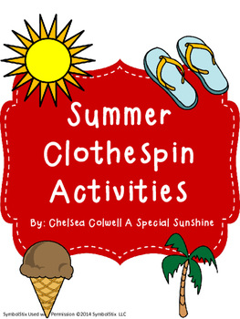 Summer Clothespin Activities