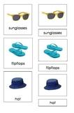Summer Clothing (3-Part Montessori Cards)