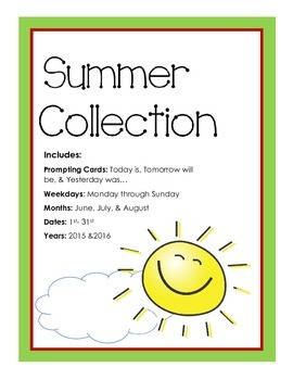 Summer Collection Calander Activity