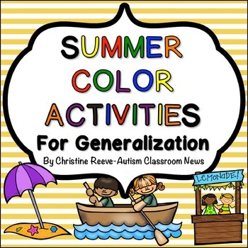 Summer Color Activities for Generalization {Autism, Early