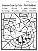 Summer Coloring Pages Color By Code First Grade by Mrs ...