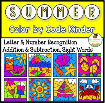 Summer Color By Code Kindergarten