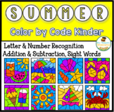 Summer Coloring Pages Color By Code Kindergarten