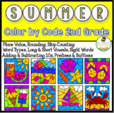 Summer Coloring Pages Color By Code Second Grade