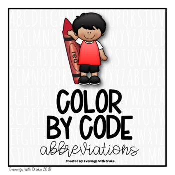 Summer Color By Code for Abbreviations (Leveled)