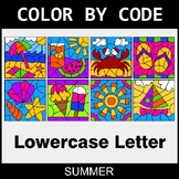 Summer: Color By Letter (Lowercase)