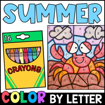 Summer Color By Letter {PRINT & GO}