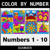 Summer Color By Number 1 - 10