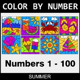 Summer Color By Number 1 - 100