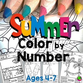 Summer Color By Number Coloring Pages