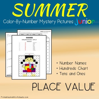 Summer Color-By-Number: Place Value (K-2)