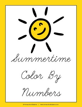 Summer Color By Numbers