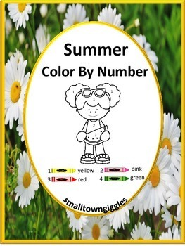 Summer Color by Number Coloring Pages NO PREP Worksheets f