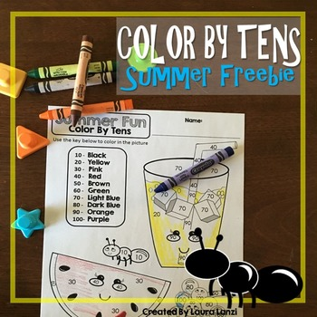 Summer Color By Tens Freebie