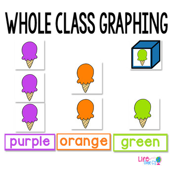 Summer Color Graphing Activities | Color Graphing | Fall Math Centers