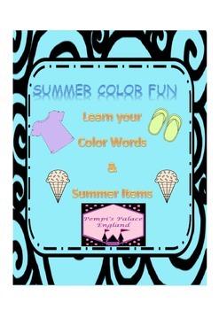 Summer Color Words (US English version)
