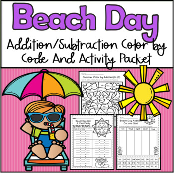 Summer Color by Addition and Subtraction