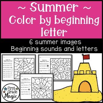 Summer Color by Beginning Letter