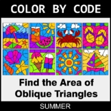 Summer Color by Code - Area of Oblique Triangles