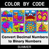 Summer Color by Code - Binary Numbers