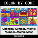 Summer Color by Code - Chemical Symbol, Atomic Number, Ato