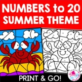 Summer Color by Code Color by Number Set