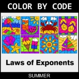 Summer Color by Code - Laws of Exponents