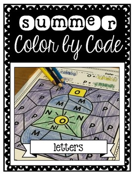 Summer Color by Code: Letters