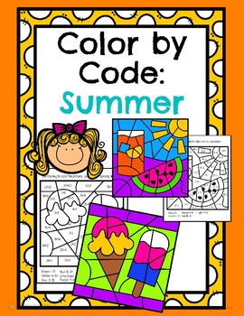 Summer Color by Code Math!
