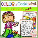 Summer Color by Code – Math (Color by Number, Addition, Subtraction)