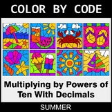 Summer Color by Code - Multiplying by Powers of Ten With Decimals