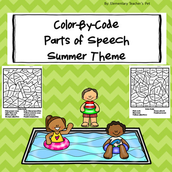Summer-Color by Code-Parts of Speech