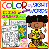 Summer Color by Code -Sight Words First Grade