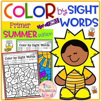 Summer Color by Code -Sight Words Primer