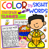 Summer Color by Code -Sight Words Second Grade