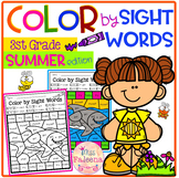 Summer Color by Code -Sight Words Third Grade
