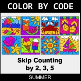 Summer Color by Code - Skip Counting by 2, 3, 5