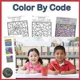 Summer Color by Code for Second Grade Review