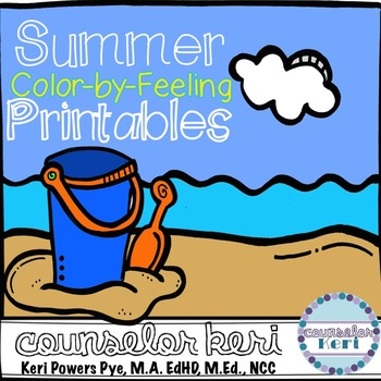 Summer Color-by-Feeling Printables