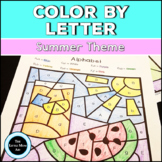 Summer Color by Letter | Summer Alphabet Coloring Pages