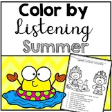 Summer Color by Listening (A Following Directions Activity)