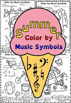 Summer: Color by Music Symbols