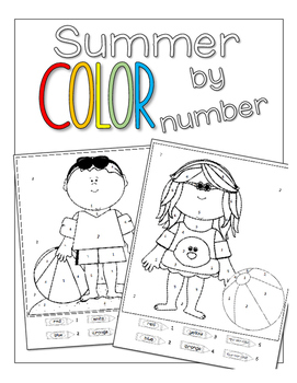 Summer Color by Number