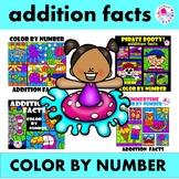 Summer Color by Number Addition Facts 4 Set BUNDLE